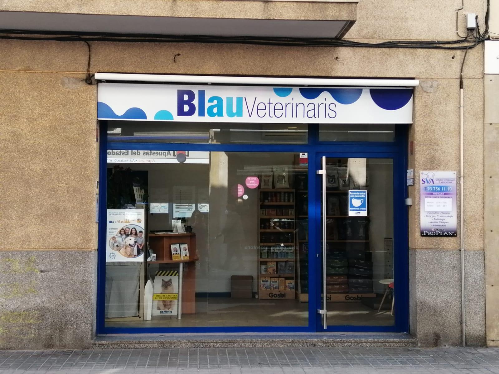 Fachada-clínica-veterinaria-argentona-blauveterinaris